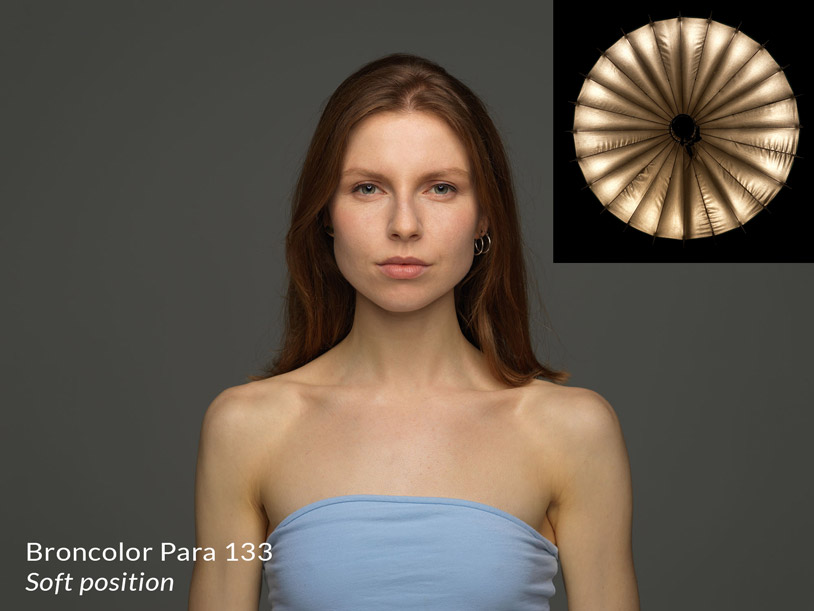 Broncolor para 133 in the soft position + result