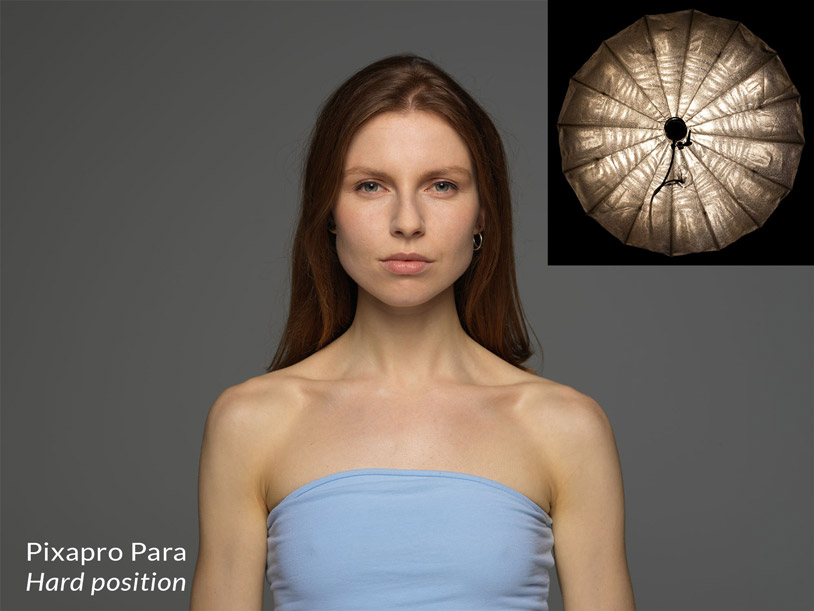 Pixapro parabolic reflector in the hard position + result