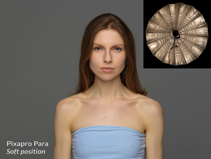 Pixapro parabolic reflector in the soft position + result