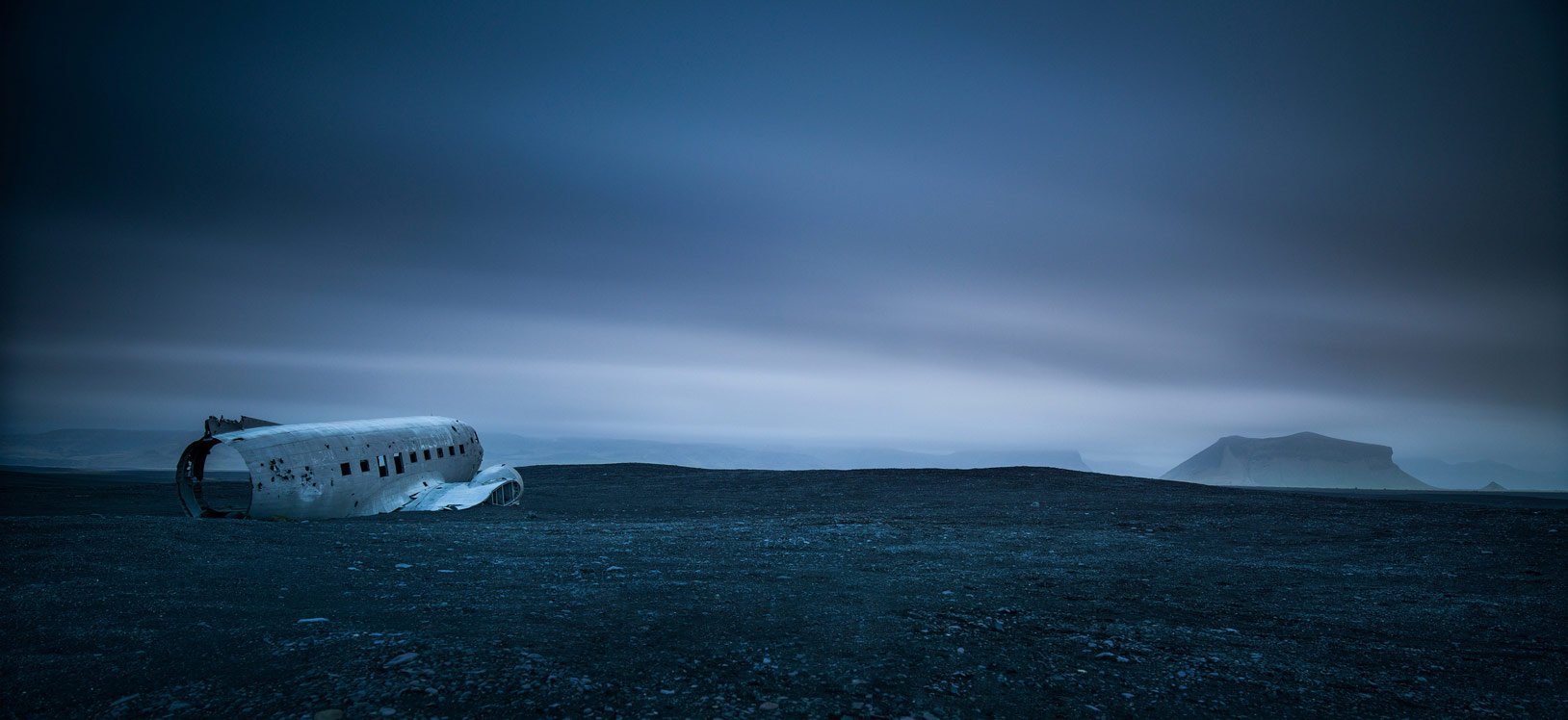 Daylight long exposure of DC 3 wreck