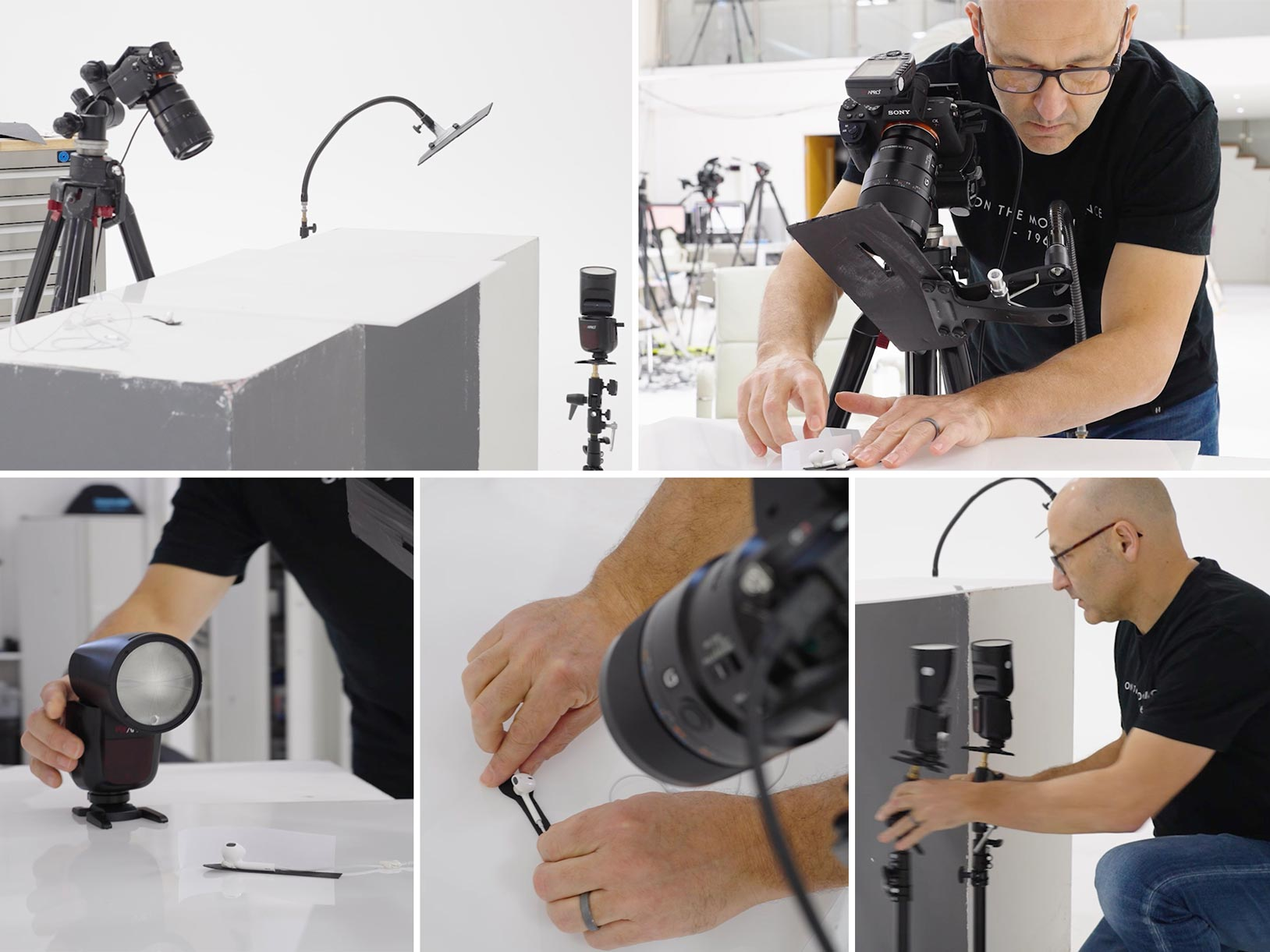 Setup for small product photography
