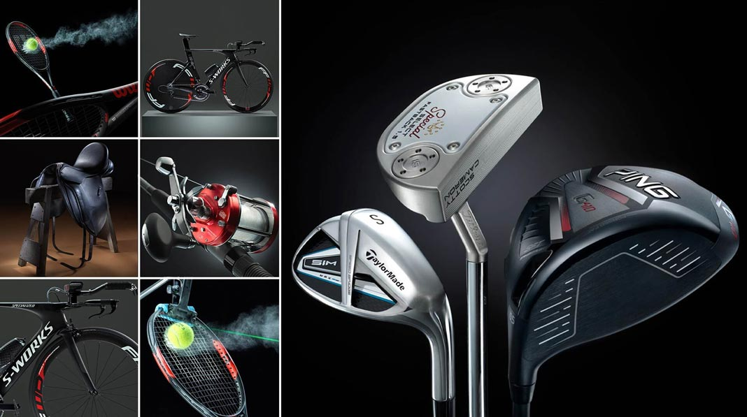 Sporting Equipment Photography Montage