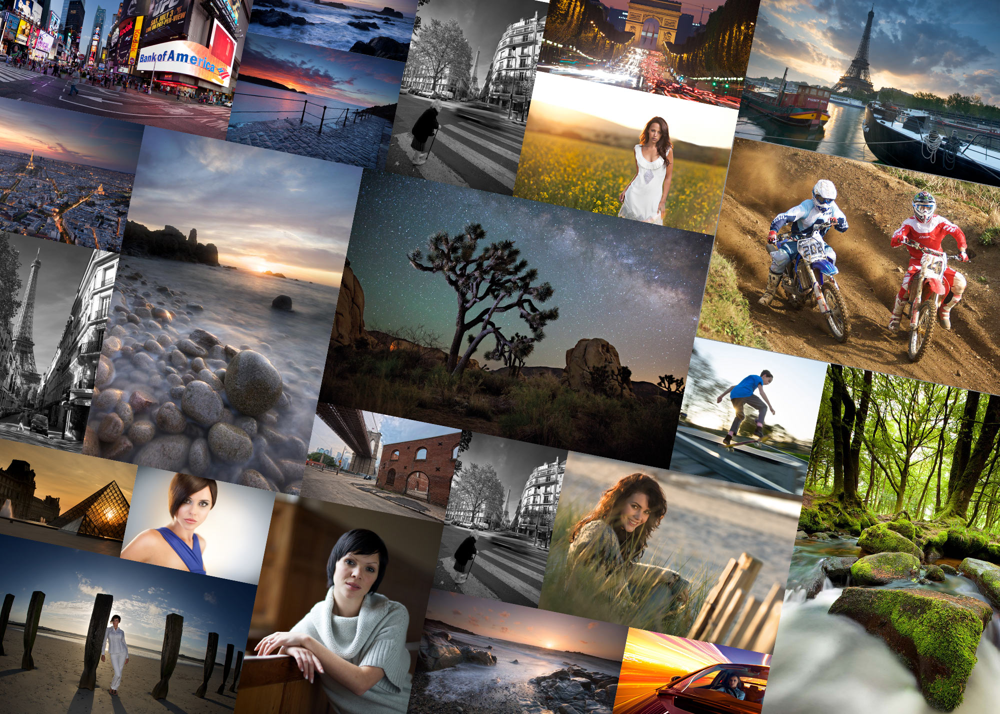 Essential photography class photos montage