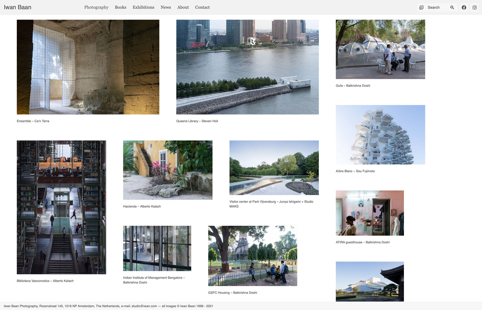 Iwan Baan architecture photography website